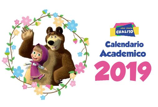 calendario jardin infantil chalito