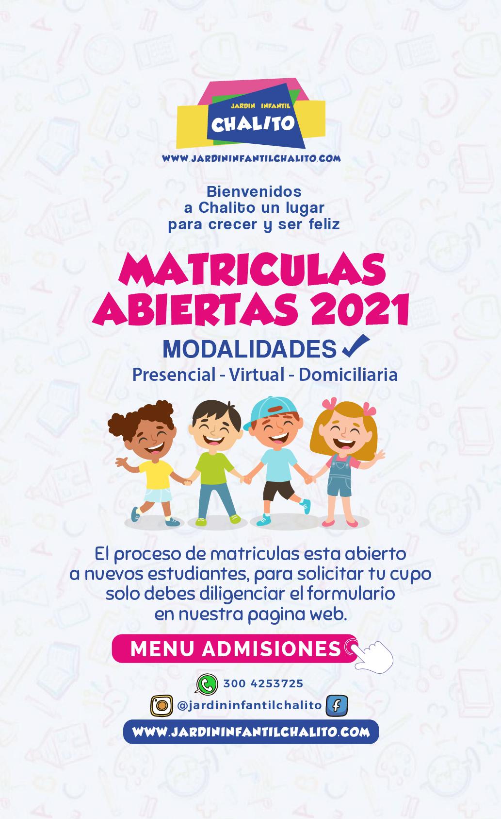 Admisiones jardín infantil 2021